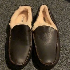 Men's ugg leather slippers